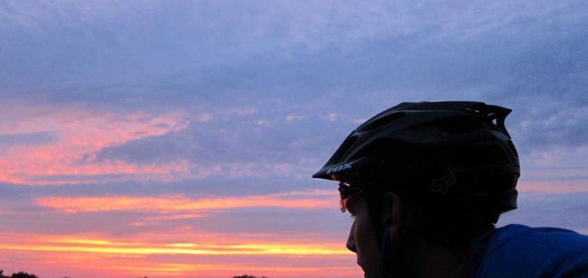 Racing sunset in the wetlands