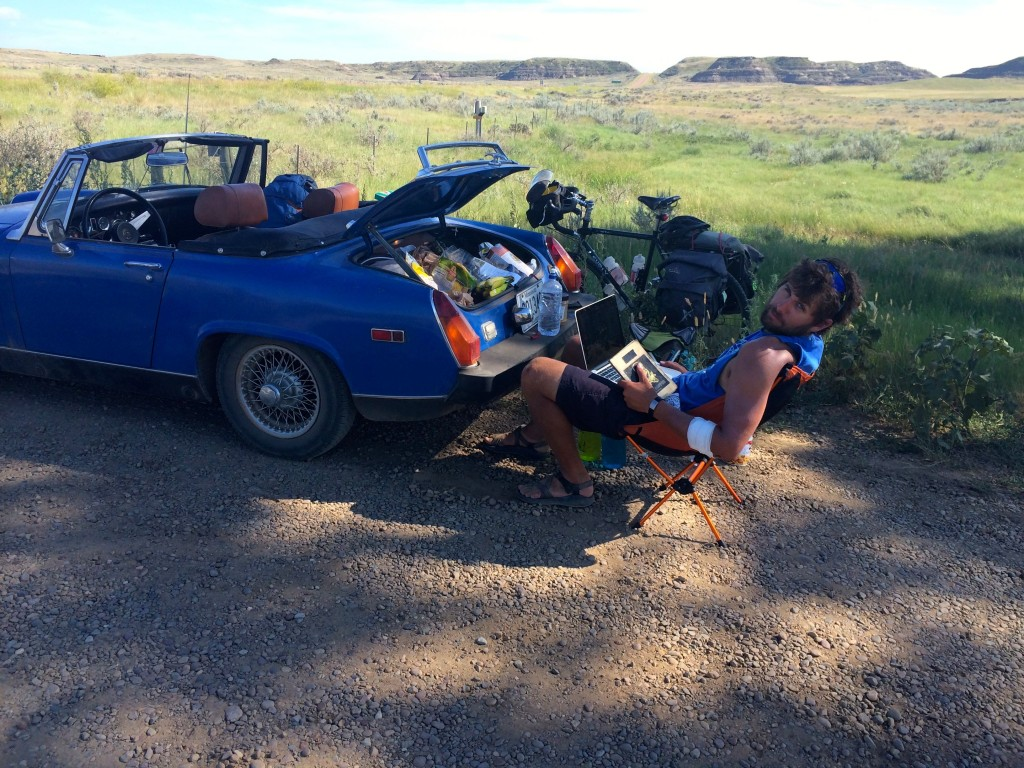 Lunch break on the way to  Fort Peck