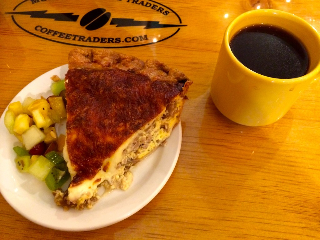 There was Quiche as well as Coffee!